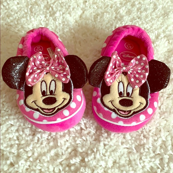 Minnie Mouse Slippers Toddler Size 78